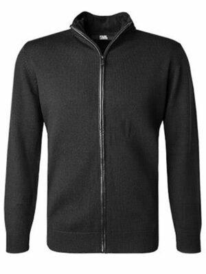 Lagerfeld Cardigan laine mérinos noir