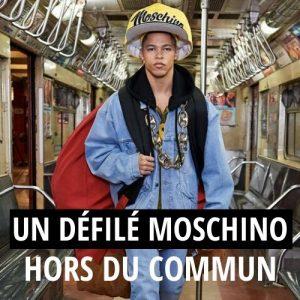 Moschino : Un défilé hors du commun dans le métro