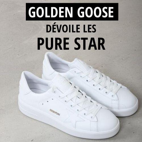 Golden Goose dévoile son nouveau modèle de sneakers : Les Purestar
