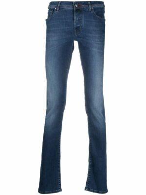Braderie jean slim à taille mi-haute