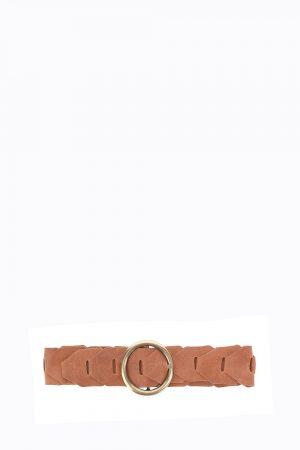 Accessoires ceinture en cuir à boucle ronde