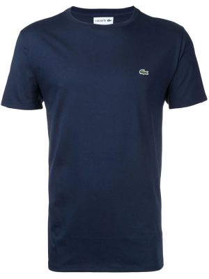 Lacoste t-shirt à logo brodé bleu marine