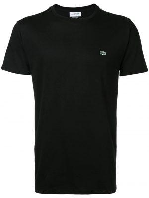 Lacoste t-shirt à logo brodé noir