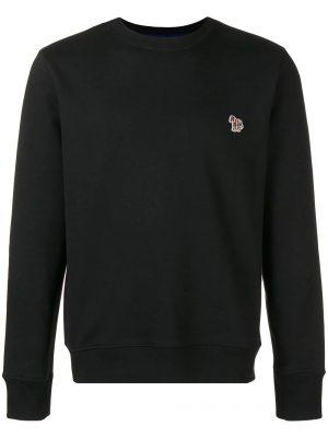 Men sweatshirt logo brodé noir