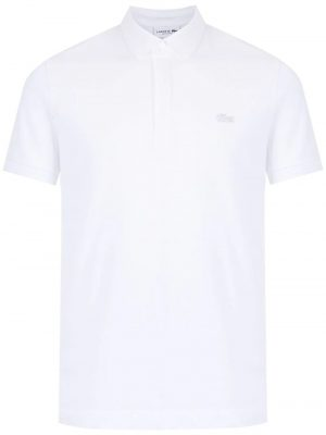 Lacoste polo à logo brodé regular fit blanc