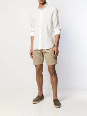 Chemises chemise à col italien blanc