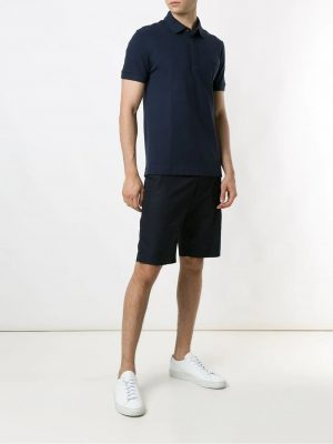 Lacoste polo à logo brodé regular fit bleu marine