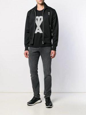 AMI Paris veste zippée structurée Ami de Cœur noir