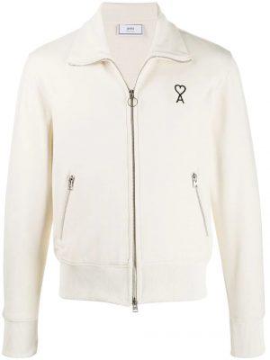 AMI Paris veste zippée structurée Ami de Cœur blanc
