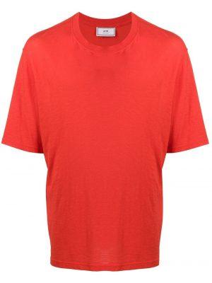 AMI Paris t-shirt à logo rouge