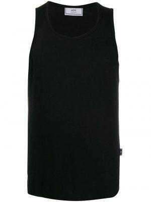 AMI Paris débardeur en jersey à logo Ami noir