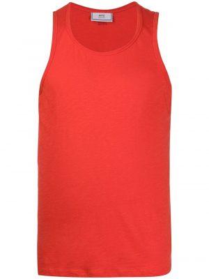 AMI Paris débardeur en jersey à logo Ami rouge