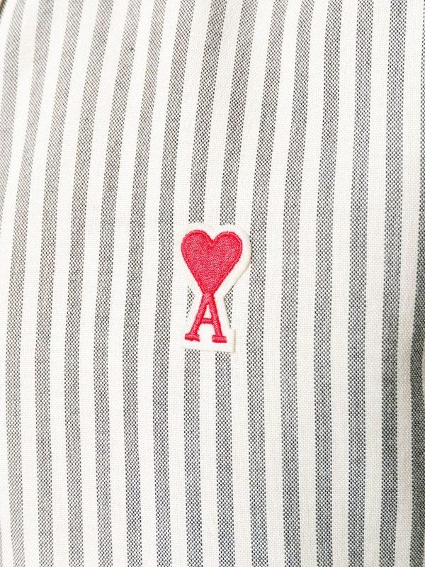 AMI Paris chemise à patch logo Ami De Cœur noir