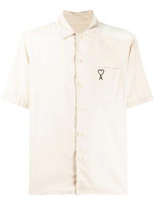 AMI Paris chemise à manches courtes Ami de Coeur blanc