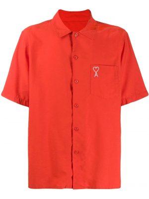 AMI Paris chemise à manches courtes Ami de Coeur rouge