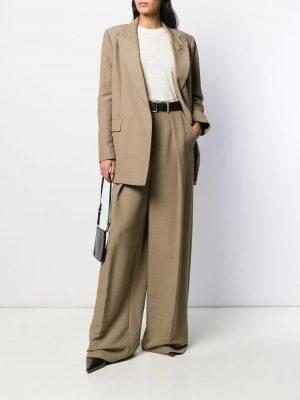 AMI Paris femme t-shirt long à manches mi-longues blanc