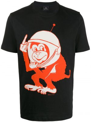 Men t-shirt Space Monkey noir