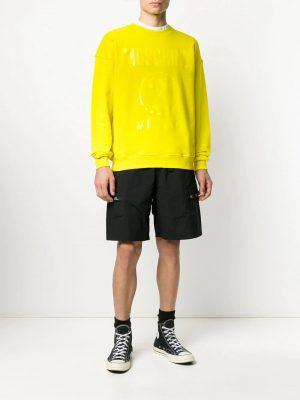 sweat à logo imprimé jaune