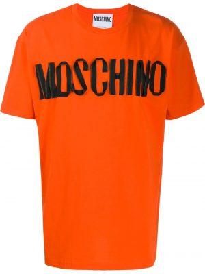 Men t-shirt ample à logo orange