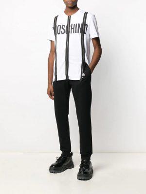 Men pantalon de jogging à logo imprimé noir