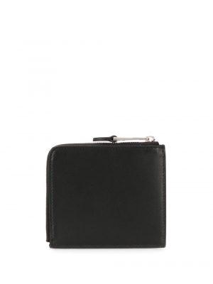portefeuille zippé Couturre à logo noir