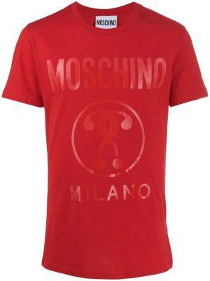 Men t-shirt à logo imprimé rouge