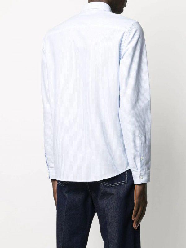 AMI Paris chemise rayée Ami de Coeur bleu