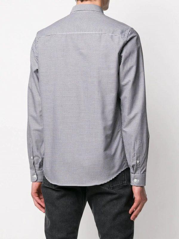 AMI Paris chemise rayée Ami de Coeur noir