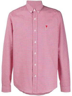 AMI Paris chemise rayée Ami de Coeur rouge