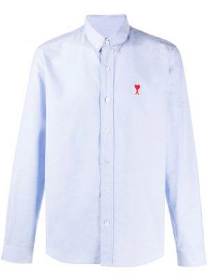 AMI Paris chemise Ami de Coeur bleu