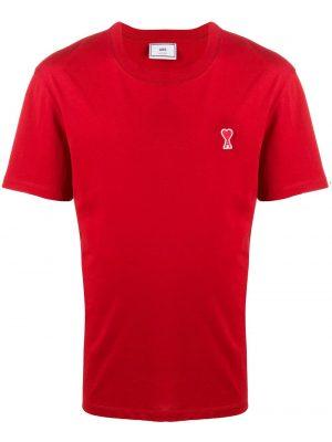 AMI Paris t-shirt à patch logo Ami De Cœur rouge