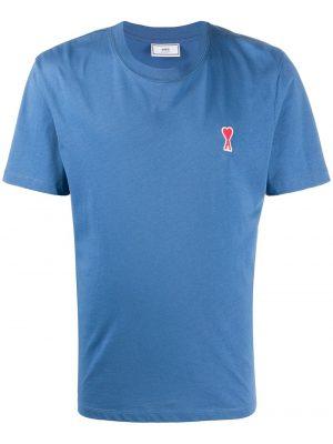 AMI Paris t-shirt à patch logo Ami De Cœur bleu