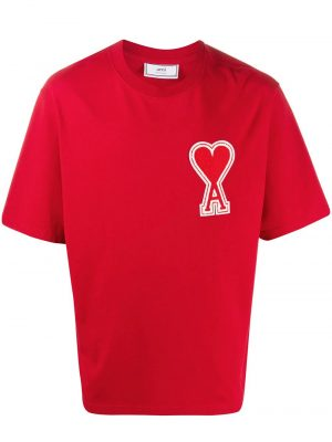 AMI Paris t-shirt Ami de Coeur rouge