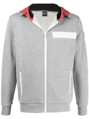Colmar sweat colour block zippé à capuche gris