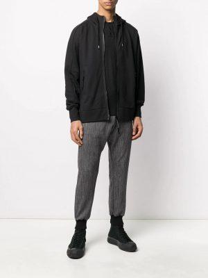 CP Company sweat à capuche zippé à appliques noir