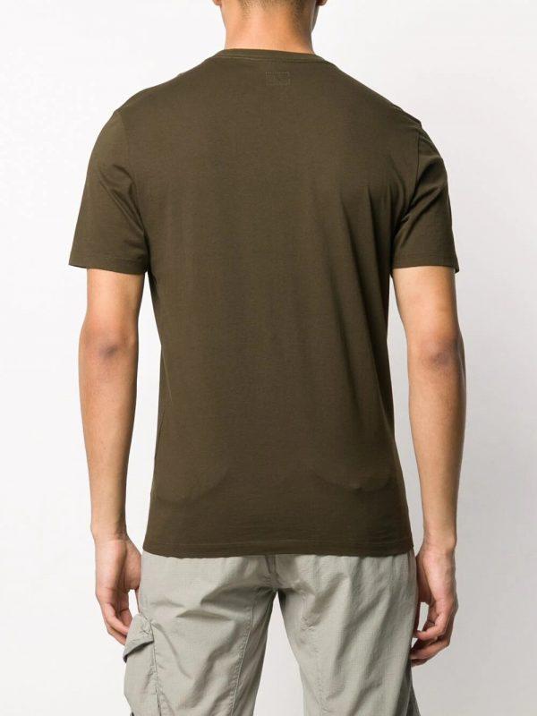CP Company t-shirt à logo brodé kaki