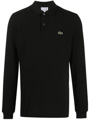 Lacoste polo à patch logo noir