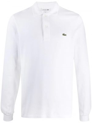 Lacoste polo à patch logo blanc