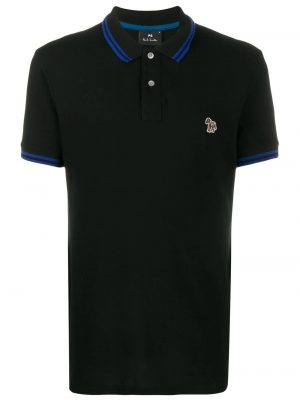 Men polo à logo brodé noir