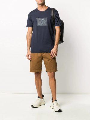 CP Company t-shirt à logo bleu
