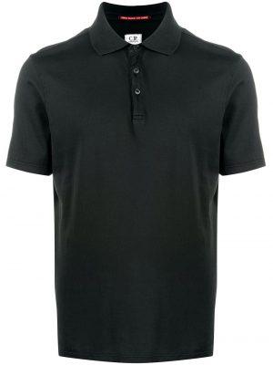 CP Company polo à logo brodé noir