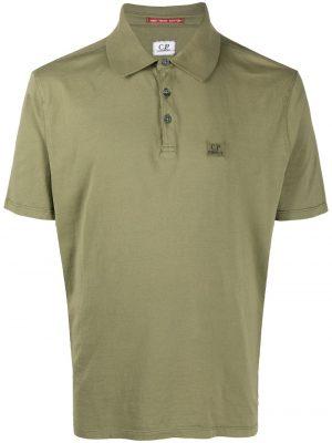 CP Company polo à logo brodé vert