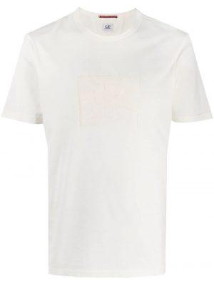 CP Company t-shirt à logo blanc