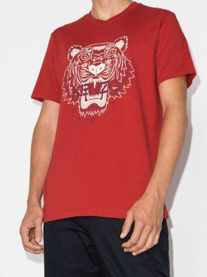 Kenzo t-shirt à logo tigre rouge