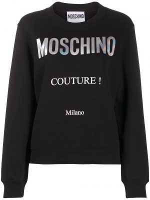 Moschino femme sweat à logo imprimé noir