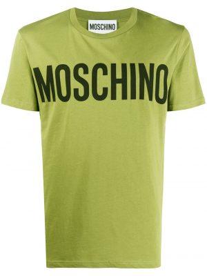 Men t-shirt à logo imprimé vert