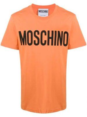 Men t-shirt à logo imprimé orange