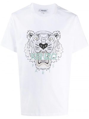 Kenzo t-shirt à logo tigre blanc