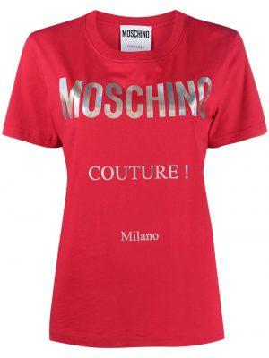 Hauts t-shirt à logo imprimé rouge