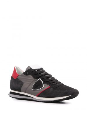 Baskets baskets Trpx gris/rouge